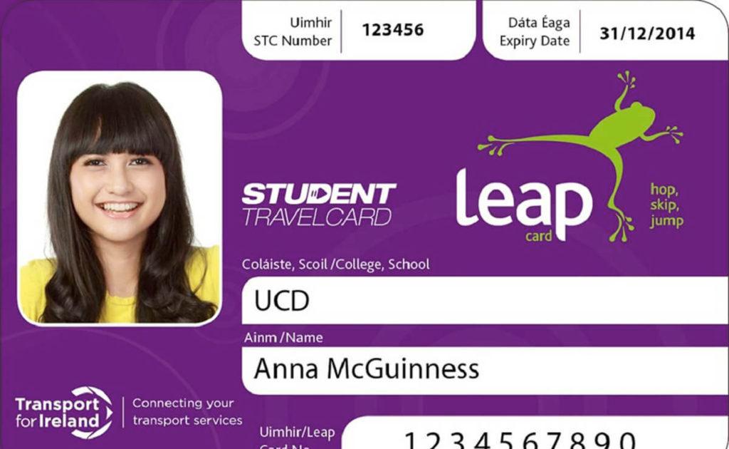 carne estudiante Dublín leap card