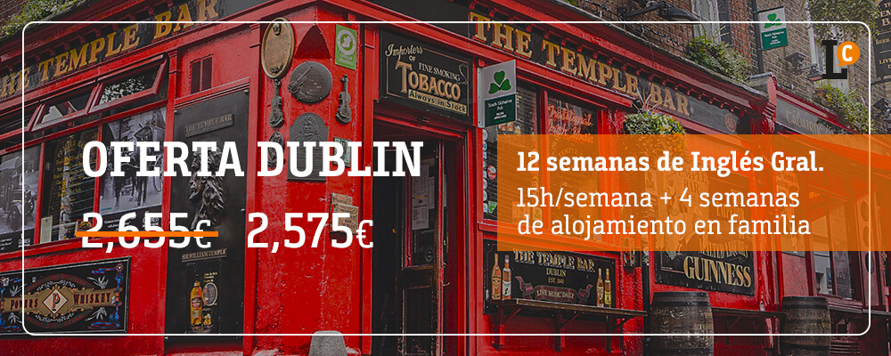 ofertas curso inglés Dublín